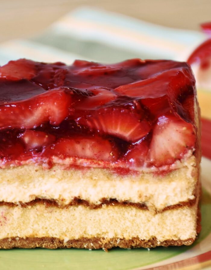Tarta de fresas - Caseríssima pastelería sin gluten